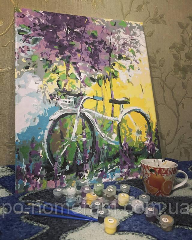 Отзыв о картине по номерам Велосипед в зарослях лаванды