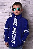 Модная ветровка для мальчика, 116 - 152 см. Детская, подростковая весенняя тонкая куртка.