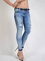 Стильные женские джинсы скинни укороченные 9561 FASHION Турция
