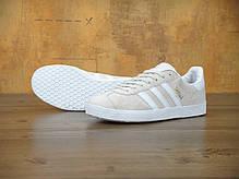 Женские кроссовки Adidas Gazelle Beige, Адидас Газели, фото 2