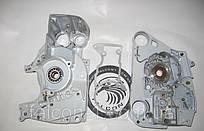 Корпус (картер) Stihl MS 440 и MS 044 + подшипники + сальники + уплотнение (для бензопил)