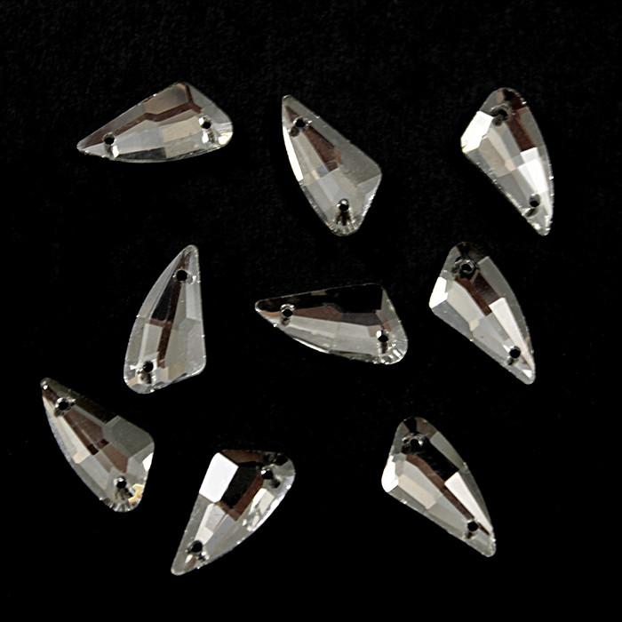 Камни-стразы пришивные 9х18 мм, ромб