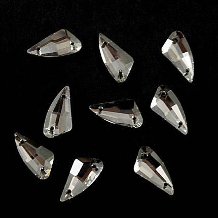 Камни-стразы пришивные 9х18 мм, ромб, фото 2