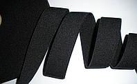 Резинка поясная, декоративная, фактурная,  черная, 3см, фото 1