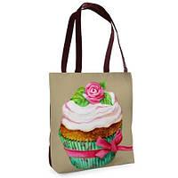 Женская сумка Нежность с принтом Сладости
