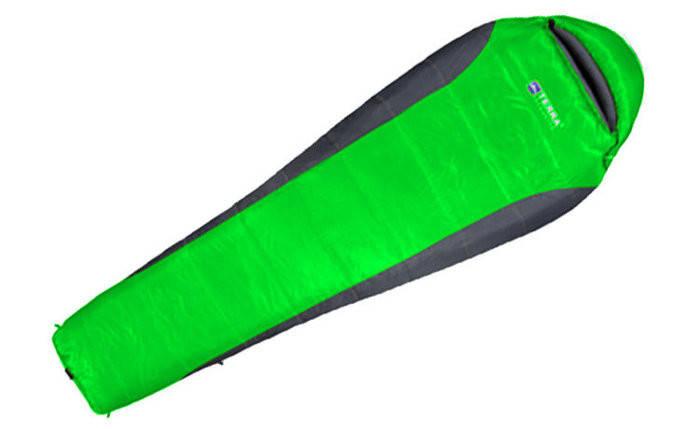 Спальный мешок Terra Incognita Siesta 300 R зеленый/серый 4823081501619 + Бесплатная доставка по Украине, фото 2