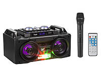 Бумбокс с радиомикрофоном KOM-0919 - 60W (USB/FM/Bluetooth/Аккумулятор)