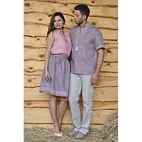 Вышиванка мужская и женский топ и юбка с вышивкой М08к-286 и Б01-286/Ю01-286