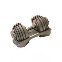 Гантель с регулируемым весом 2,3-24 кг LS2315-24