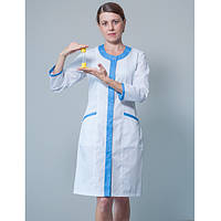 Халат медицинский женский на кнопках MED-HWK-23DG
