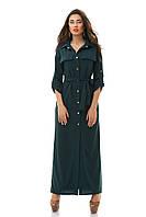 Платье-халат макси на кнопках+пояс 06/3042