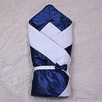 """Конверт одеяло нарядный """"Beauty"""" синий"""
