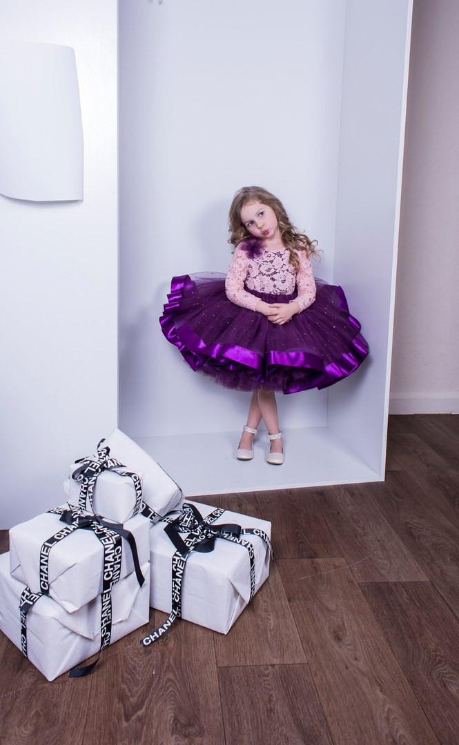 Супер пышная юбка с лентами. Юбка-кукла.