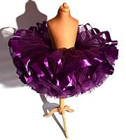 Супер пышная юбка с лентами. Юбка-кукла., фото 4