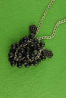 Колье с камнем змеевик, фото 1