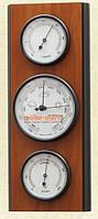 Настенный  барометр ретро с гигрометром и термометром 203099 вишня Moller  914705.