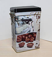 Банка для хранения кофе 500 гр с клипсой