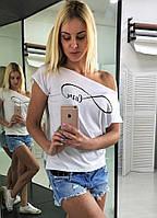 Женская футболка на одно плече