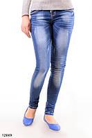 Женские джинсы скинни O-12849