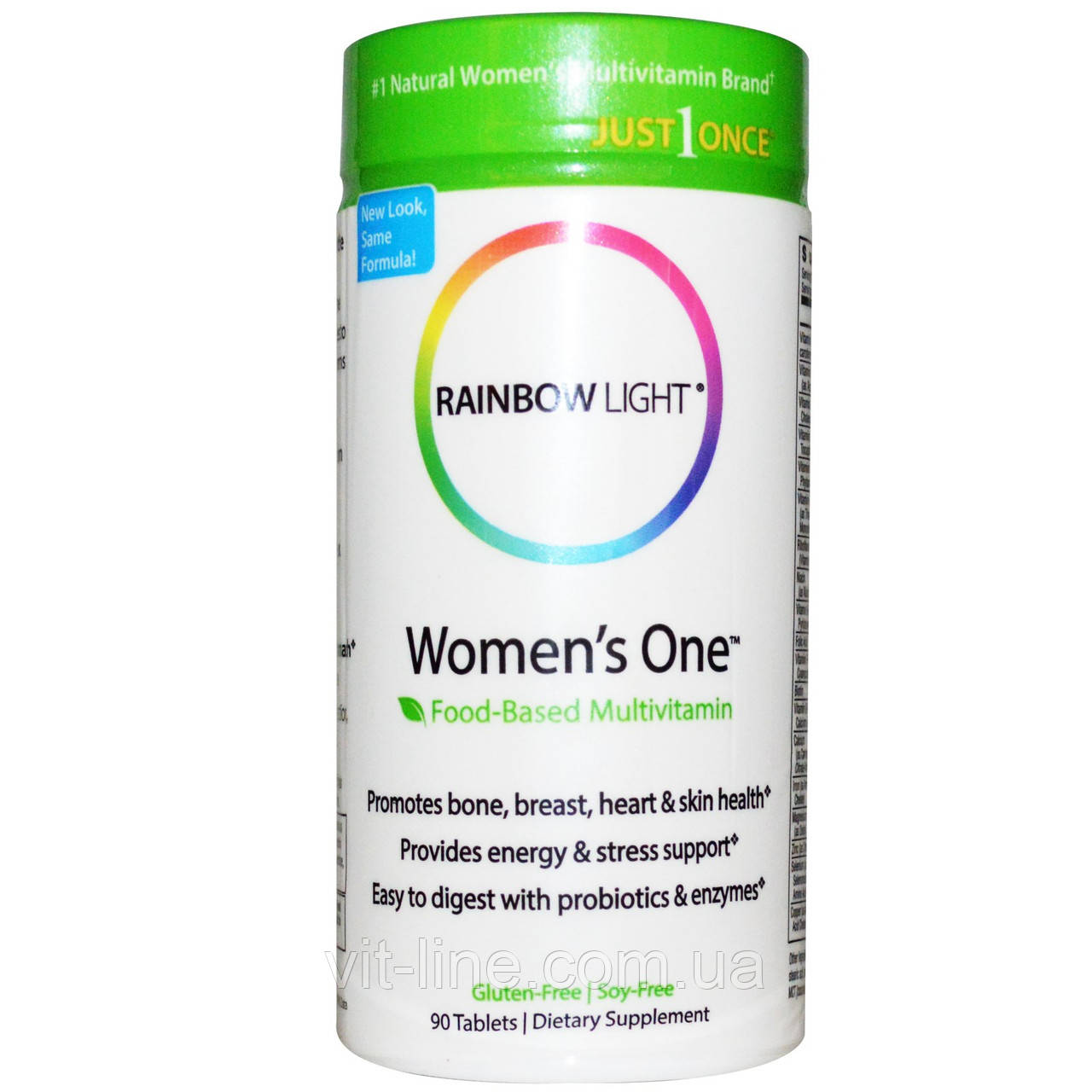 Rainbow Light, Just Once, пренатальный комплекс мультивитамин на пищевой основе, 90 таблеток