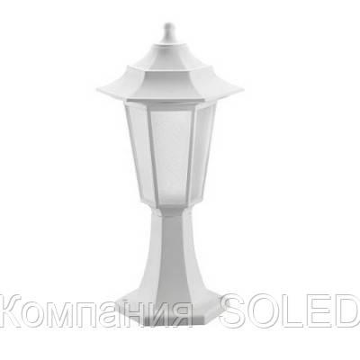 Светильник садово-парковый IP44  E27 40w пластик белый