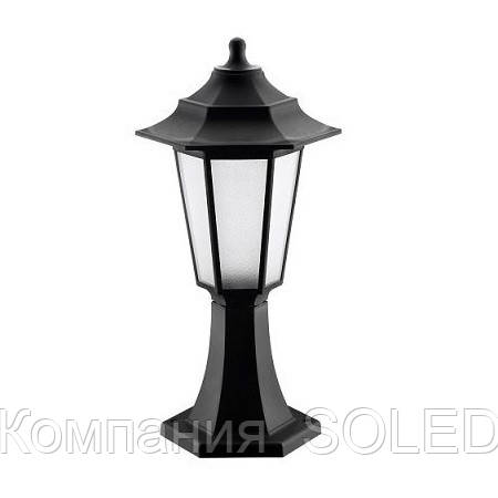 Светильник садово-парковый IP44  E27 40w пластик черный