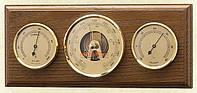 Горизонтальный настенный  барометр с гигрометром и термометром 203223 дуб Moller 904881.