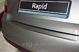 Накладка защитная на задний бампер Rapid с загибом, фото 2