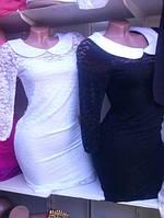 Гипюровое платье с воротником