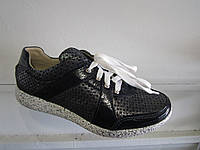 Туфли женские кожаные на шнуровке