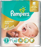 Подгузники Pampers Premium Care 2 Mini (3-6 кг) 80шт