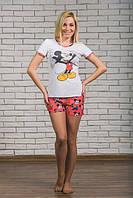 "Женская пижамка ""Микки"" майка+шортики (42-54)"