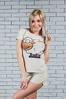 """Женская пижамка """"Баранчик Шон"""" майка+шортики (42-54), фото 1"""
