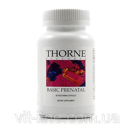 Thorne Research, Basic Prenatal, 90 капсул растительного происхождения, фото 2