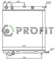 Радиатор охлаждения Citroen C2 03-, C3 02-, Peugeot 207 06- Profit