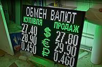 Табло обмен валют с бегущей строкой (800х1000 мм, 3 валюты)