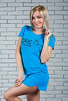 "Женская пижамка ""Love is..."" майка+шортики (42-54), фото 1"