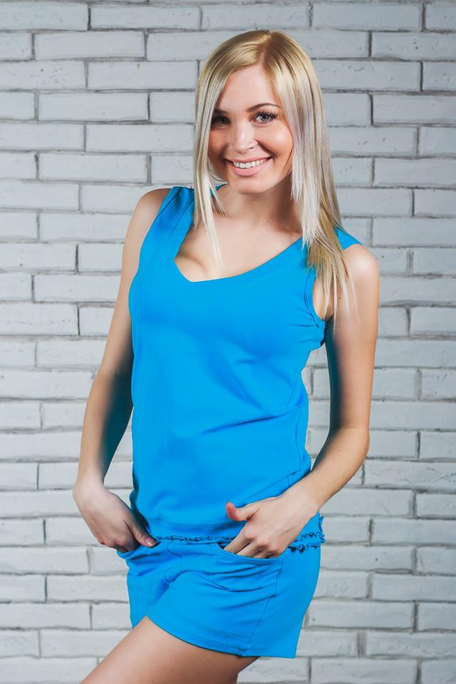 Женская пижамка  майка+шортики (42-54)
