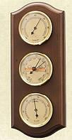 Надежный настенный  барометр с гигрометром и термометром 203378 грецкий орех Moller 914711.