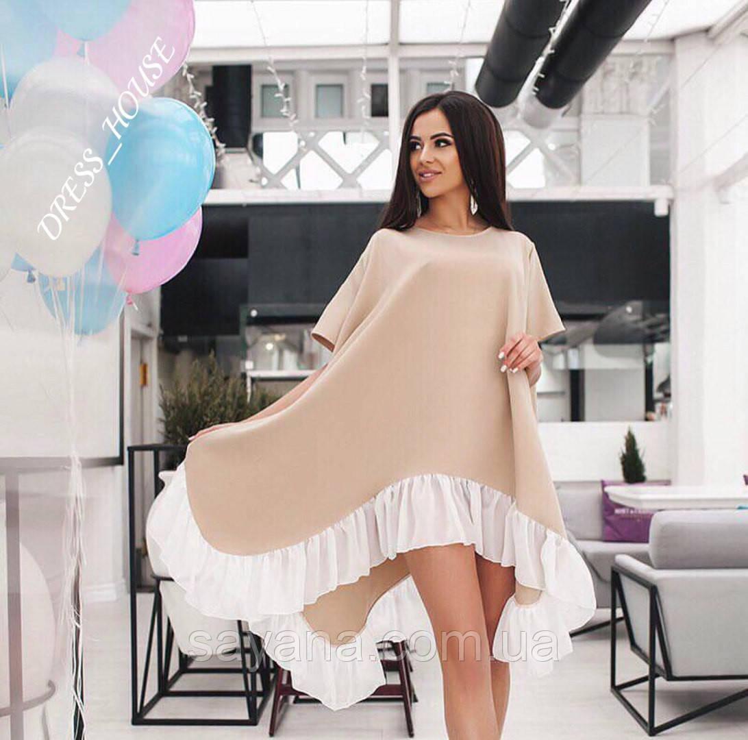 Женское стильное платье свободного кроя ,в расцветках
