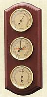 Надежный настенный  барометр с гигрометром и термометром 203380 красное дерево Moller 914713.