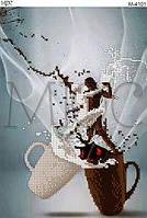 """Схема для вышивки бисером """"Кофе с молоком"""""""