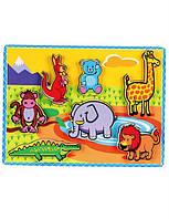 Деревянный пазл рамка вкладыш viga toys Животные (56435) для развития