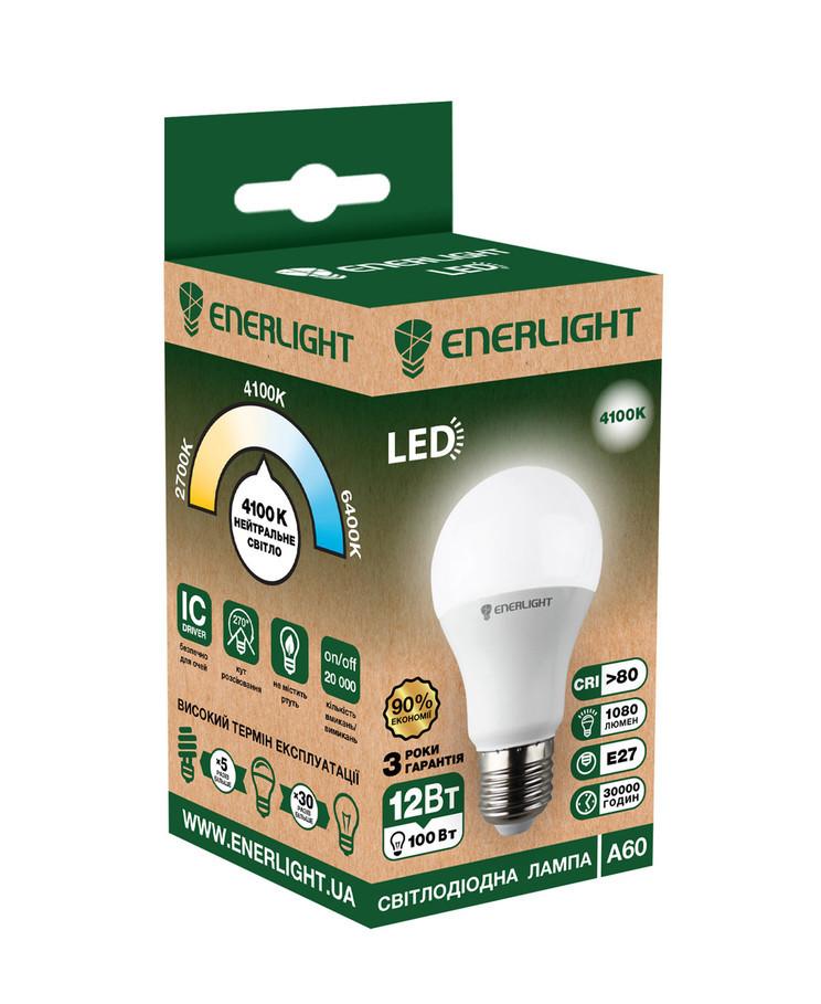 LED лампа Enerlight A60 12W 4100K E27