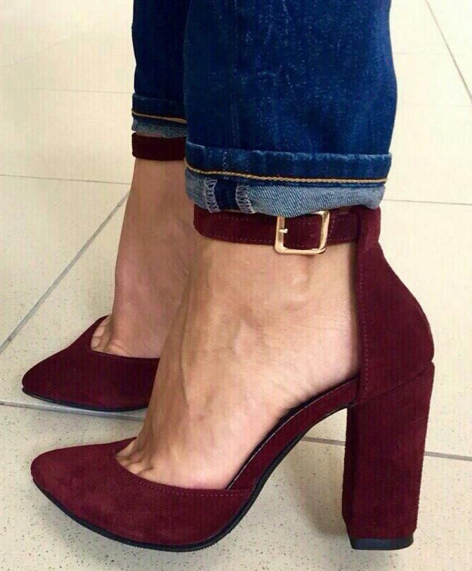 afdd7384 Красивые женские замшевые кожаные босоножки туфли каблук 10 см весна лето  осень марсала классика