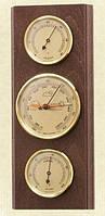 Прямоугольный настенный  барометр с гигрометром и термометром 203801 грецкий орех Moller 914714.