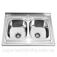 Кухонная мойка двойная Sofia S8060P
