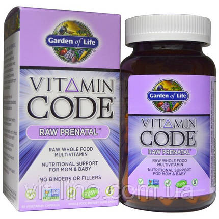 Garden of Life, Витаминный код, сырые (натуральные) витамины для беременных, 180 вегетарианских капсул, фото 2