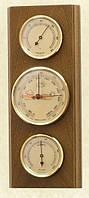Прямоугольный настенный  барометр с гигрометром и термометром 203802 дуб Moller 914715.