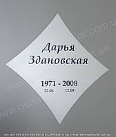 Табличка на памятник
